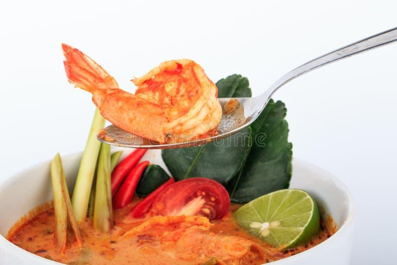 Tom Goong Tajlandzka stylowa krewetki polewka Yum, gorąca i kwaśna obrazy stock