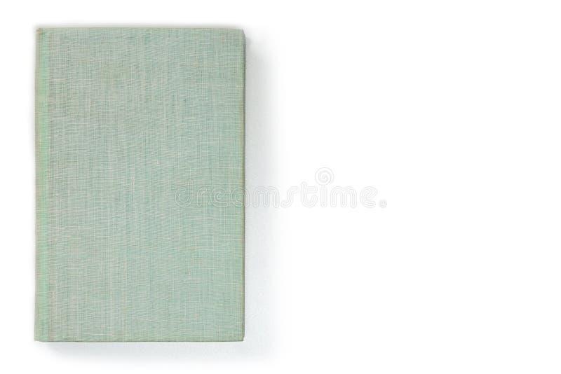 Tom grå färg-gräsplan tissular bokomslag, sikt för främre sida Tom hardcoveråtlöje upp, isolerat på vit bakgrund fotografering för bildbyråer