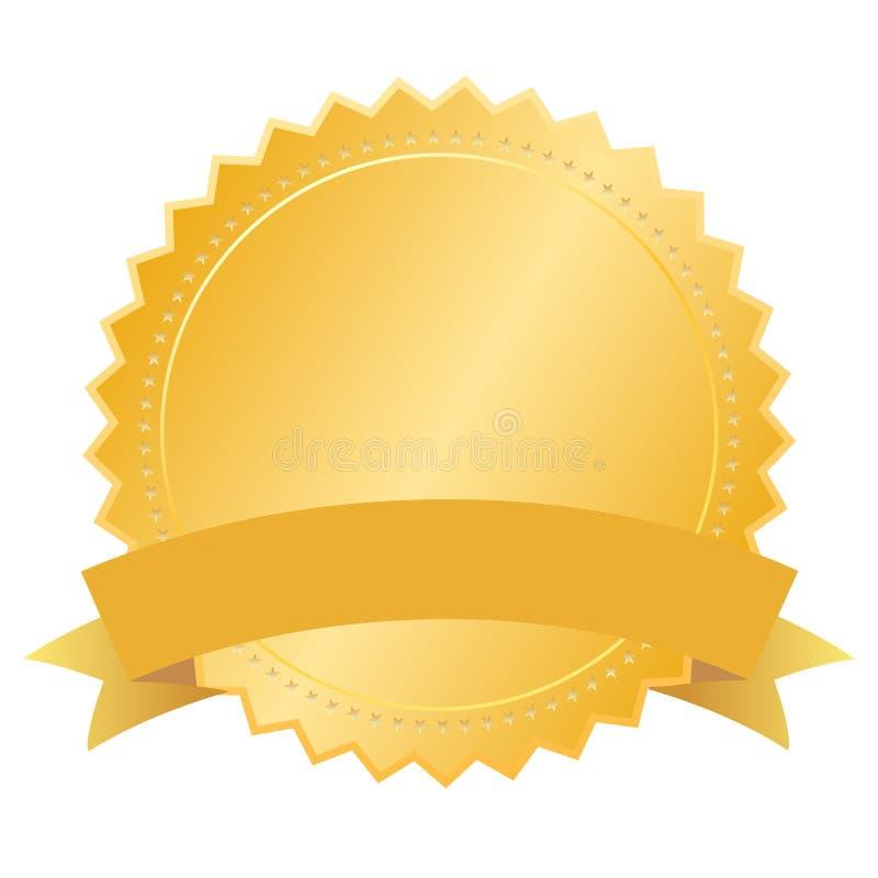 Tom guld- skyddsremsa för vektor royaltyfri illustrationer