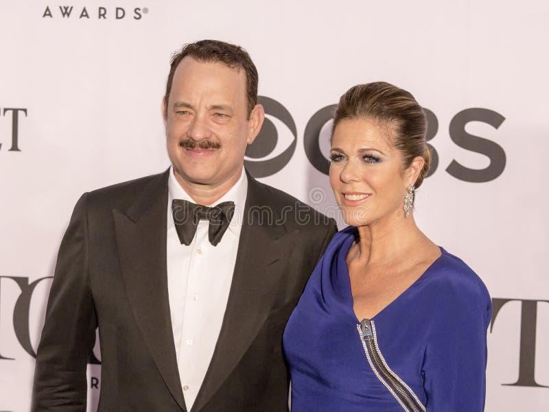 Tom Hanks et Rita Wilson photographie stock