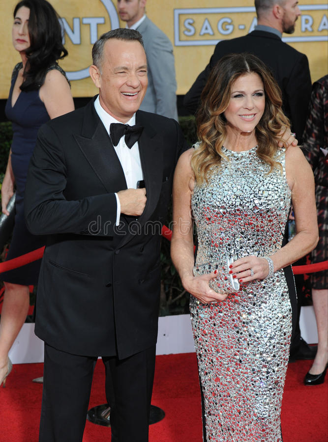 Tom Hanks et Rita Wilson images libres de droits