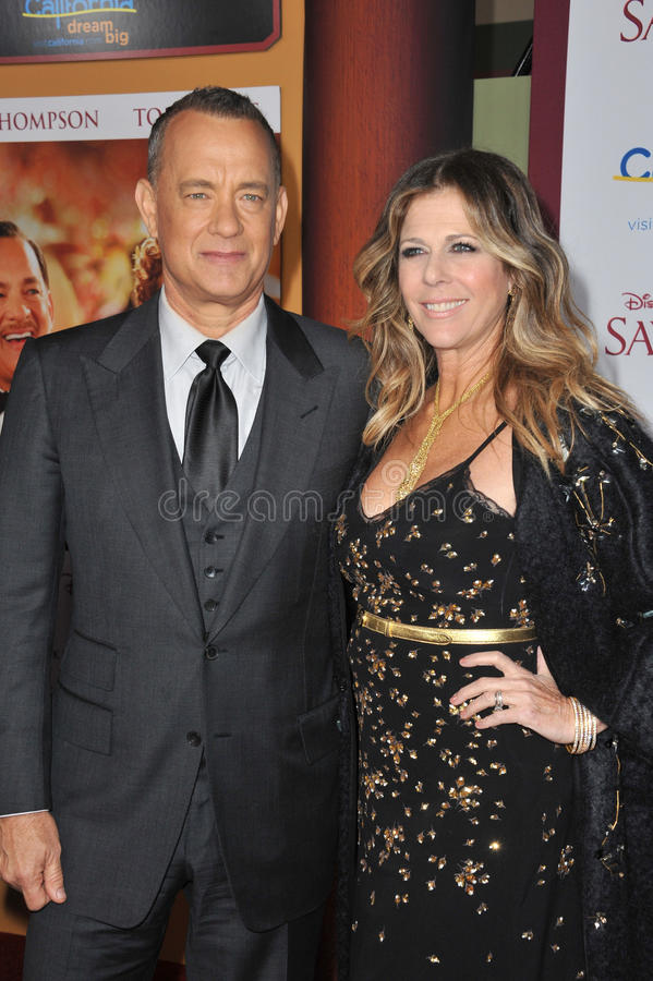 Tom Hanks et Rita Wilson images libres de droits