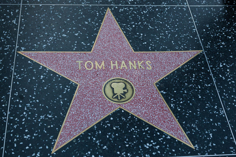 Tom Hanks Hollywood Star arkivbild