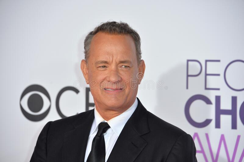 Tom Hanks. LOS ANGELES, CA - JANUARY 18, 2017: Tom Hanks at the 2017 People's Choice Awards at The Microsoft Theatre, L.A. Live, Los Angeles stock photography