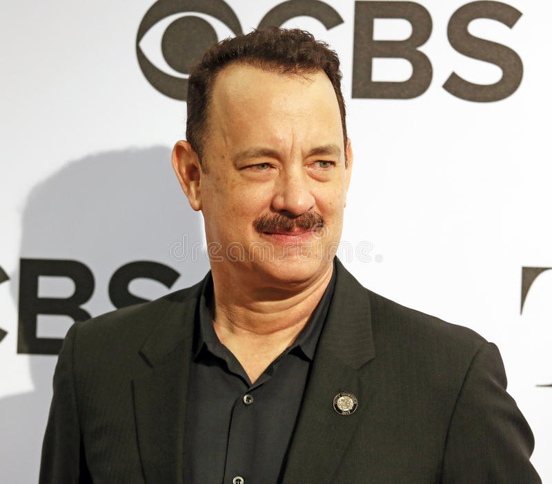 Tom Hanks. Multiple Oscar-winning actor Tom Hanks appears at the Meet the Nominees Press Junket at The Millennium Broadway Hotel Times Square in New York City on stock photography