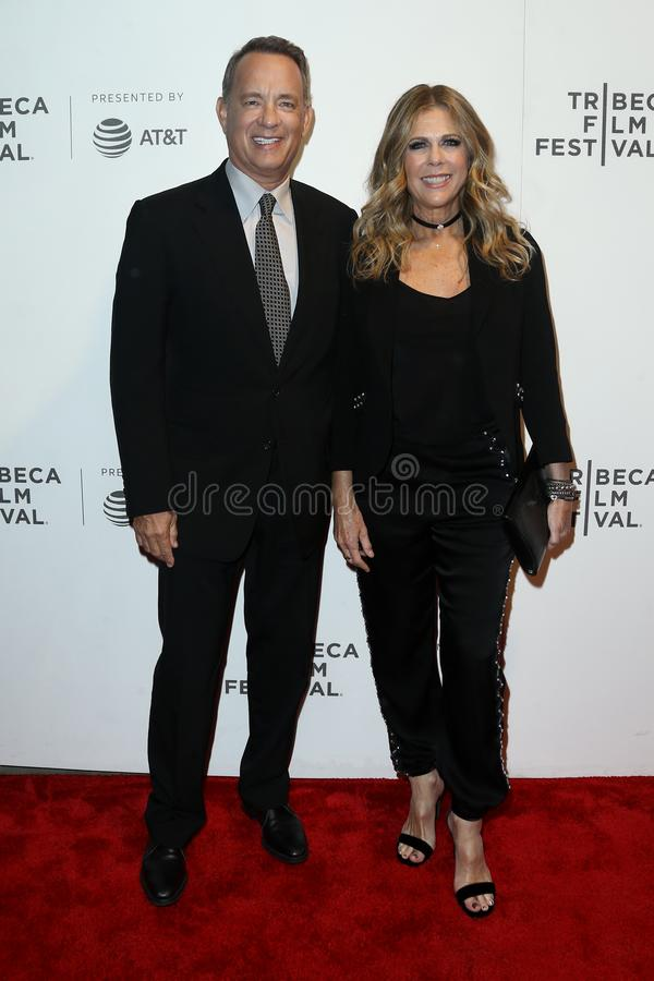 Tom Hanks Rita Wilson royaltyfri foto