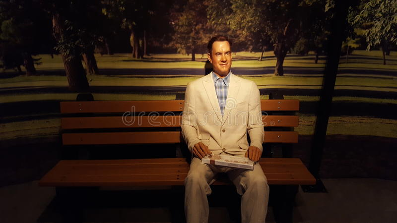Tom Hanks Wax Statue royaltyfri fotografi