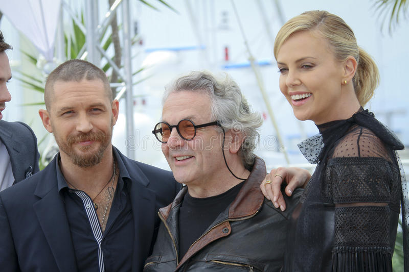 Tom Hardy, Charlize Theron, George Miller fotos de archivo