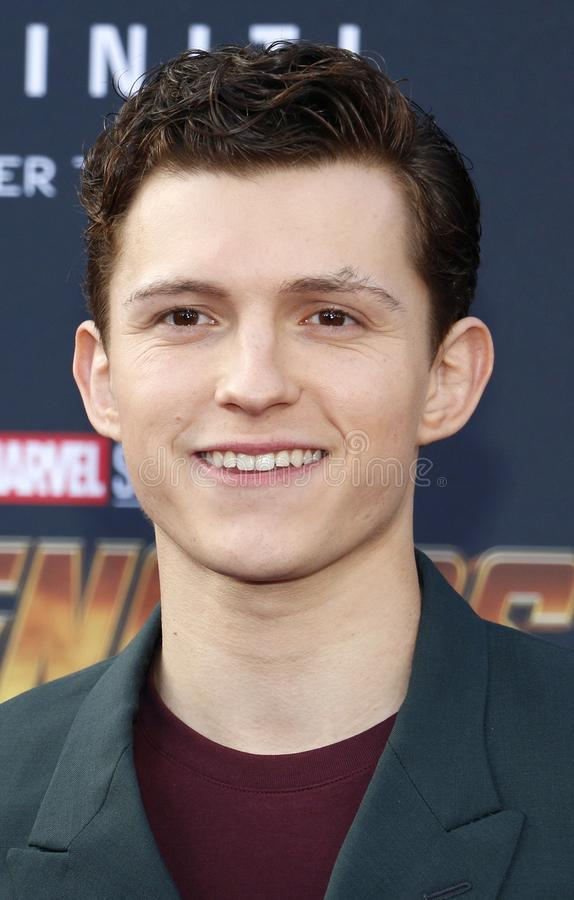 Tom Holland. At the premiere of Disney and Marvel`s `Avengers: Infinity War` held at the El Capitan Theatre in Hollywood, USA on April 23, 2018 royalty free stock photos