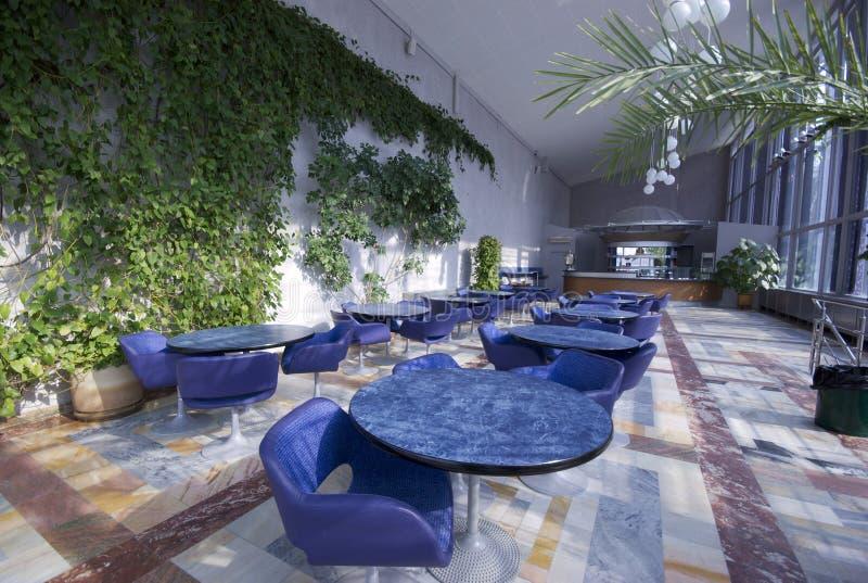 tom interior för cafe royaltyfria bilder