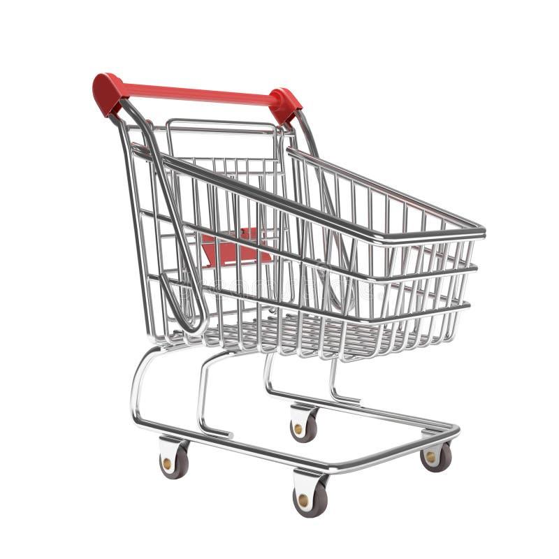 tom isolerad shopping för vagn stock illustrationer