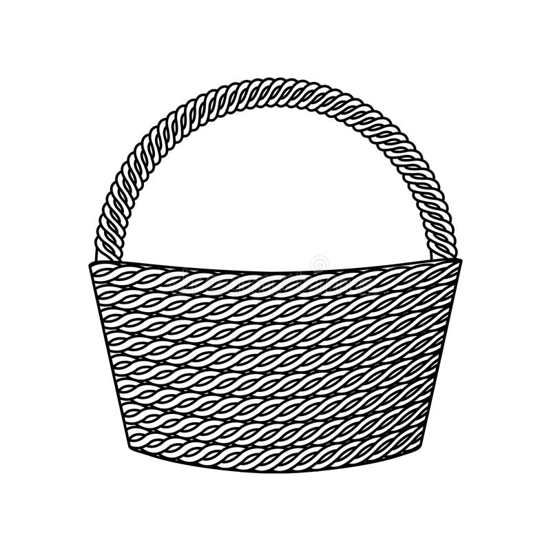 Tom isolerad symbol för korg vektor illustrationer