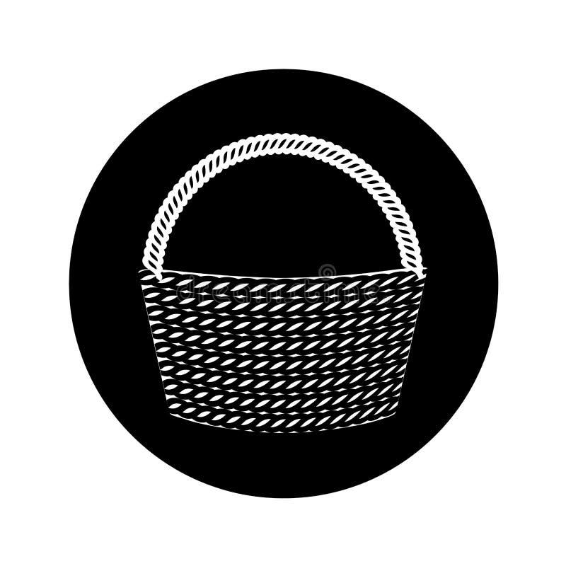 Tom isolerad symbol för korg royaltyfri illustrationer
