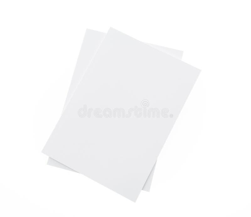 Tom katalog, broschyr, tidskrifter, bokåtlöje upp på den vita backgrouen arkivbilder