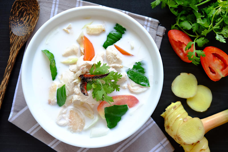 Tom Kha Kai stock images