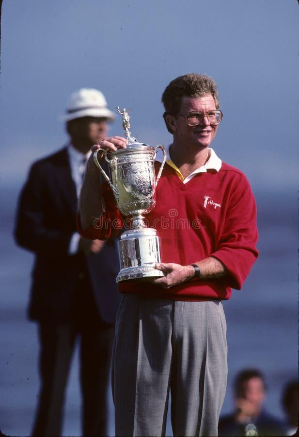 Tom Kite Professional Golfer At o US Open fotografia de stock