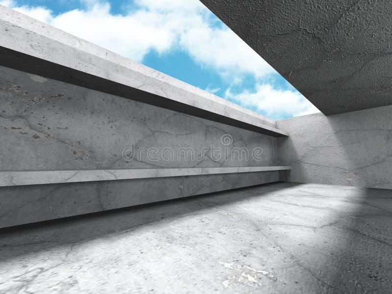 Download Tom Konkret Ruminre Med Takfönstret Till Himmel Stock Illustrationer - Illustration av horisontal, takfönster: 78729588