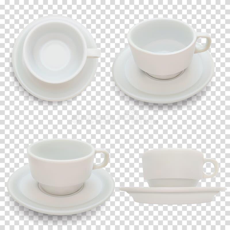 Tom kopp för kaffe eller andra varma drinkar, realistisk vektor stock illustrationer