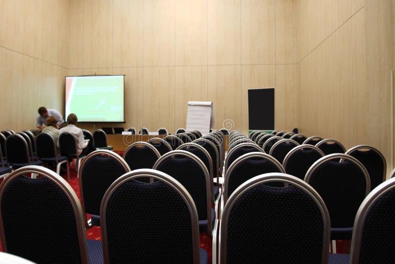 tom korridor för konferens royaltyfria bilder