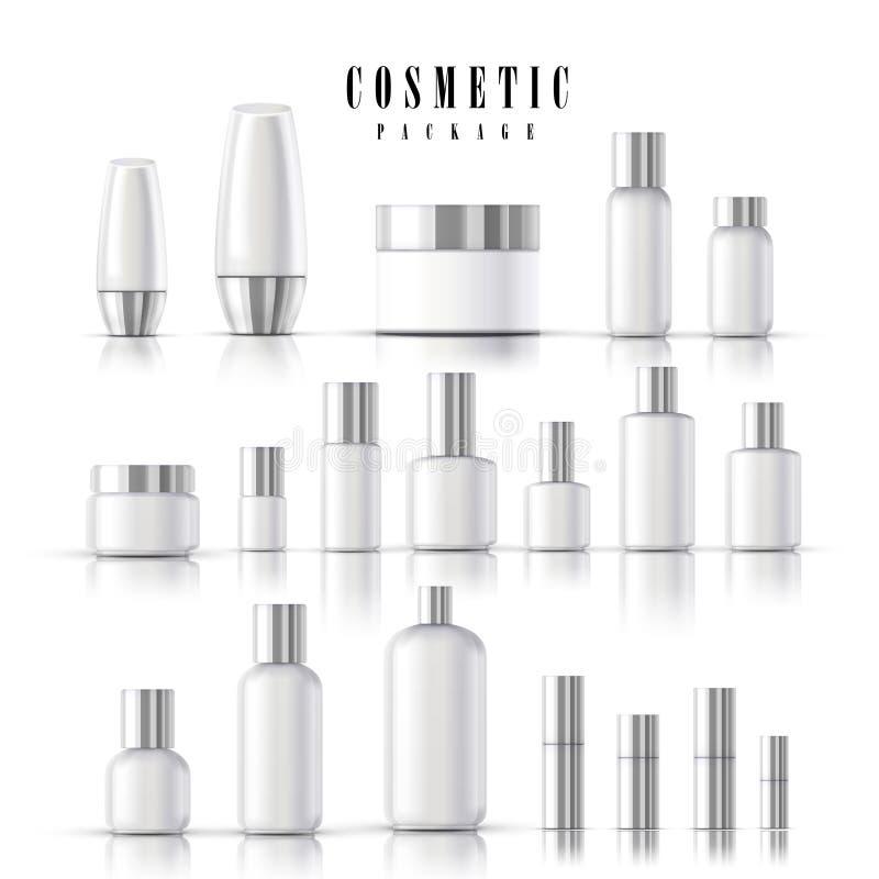 Tom kosmetisk packesamling stock illustrationer
