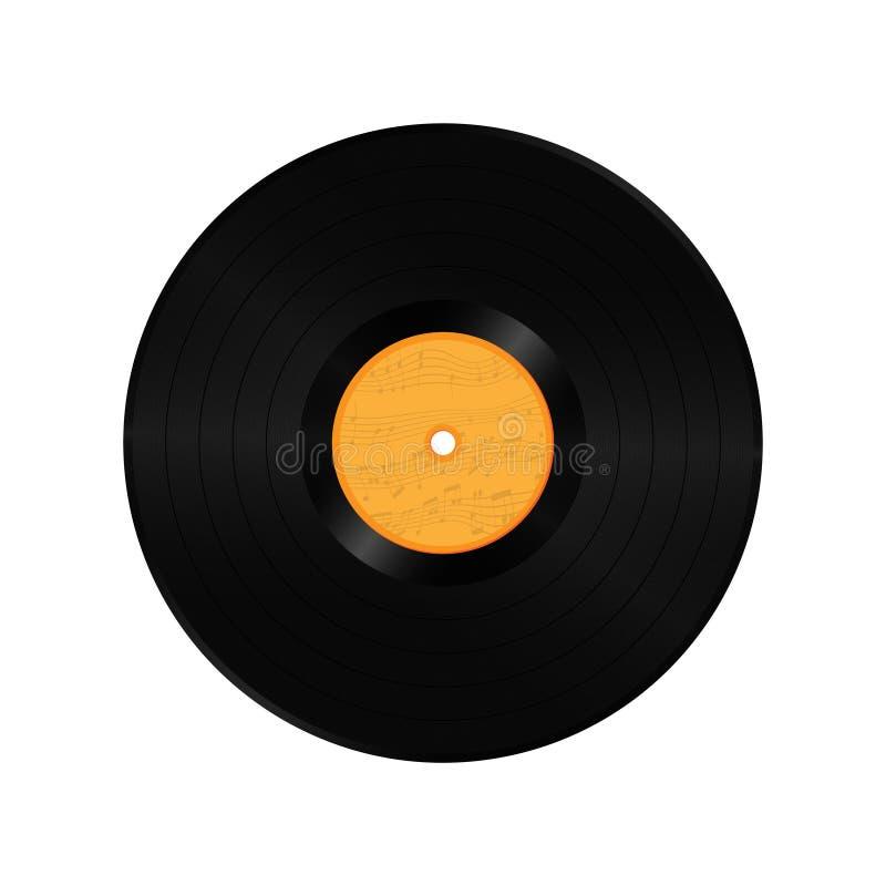 Tom lång lek för vinylrekord vektor illustrationer