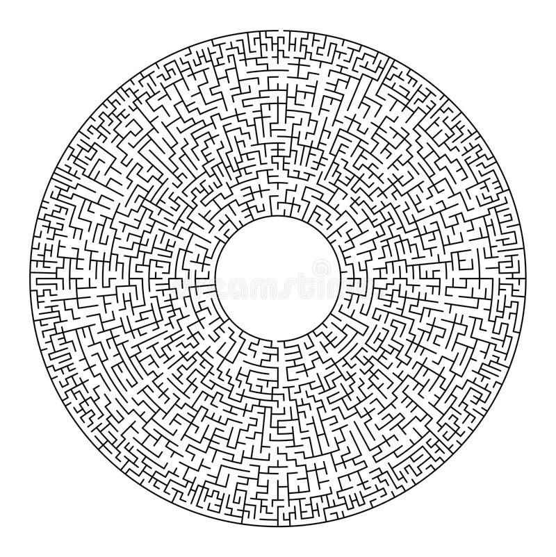 Tom labyrint vektor illustrationer