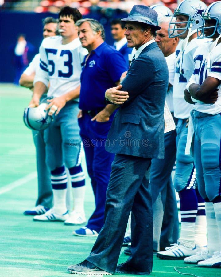 Tom Landry Dallas Cowboys images libres de droits