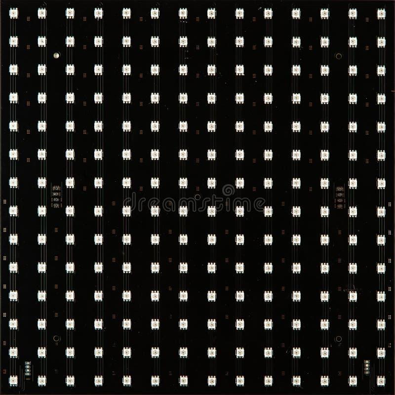 Tom LED-matris isolerad på vit bakgrund royaltyfri fotografi