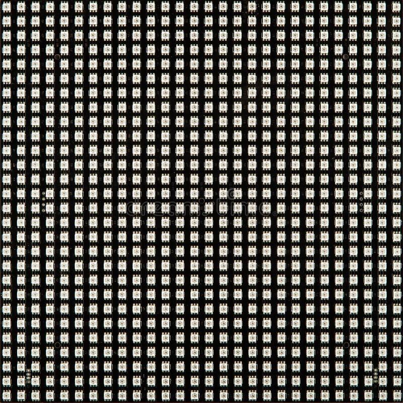 Tom LED-matris isolerad på vit bakgrund arkivfoton