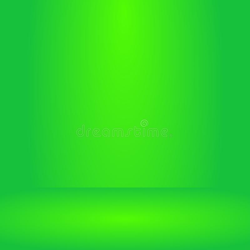 , Tom livlig bakgrund för rum för belysninggräsplanstudio, mallåtlöje upp för skärm eller montage av produkten, affärsbakgrund vektor illustrationer