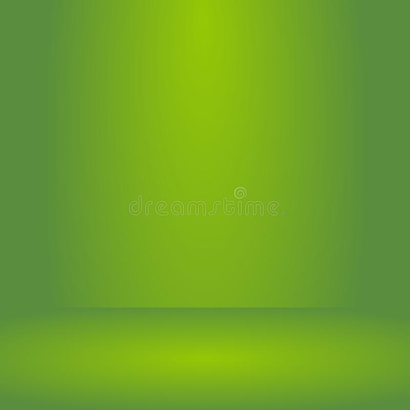 , Tom livlig bakgrund för rum för belysninggräsplanstudio, mallåtlöje upp för skärm eller montage av produkten, affärsbakgrund royaltyfri illustrationer
