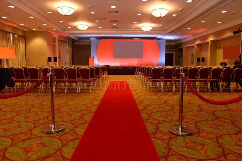 tom lokal för konferens royaltyfria foton