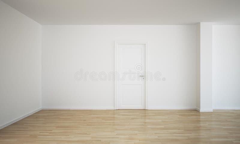 tom lokal för stängd dörr royaltyfri illustrationer