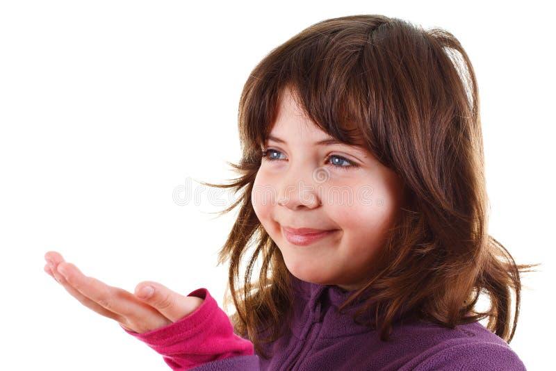 tom lycklig flickahand little som ler arkivbild