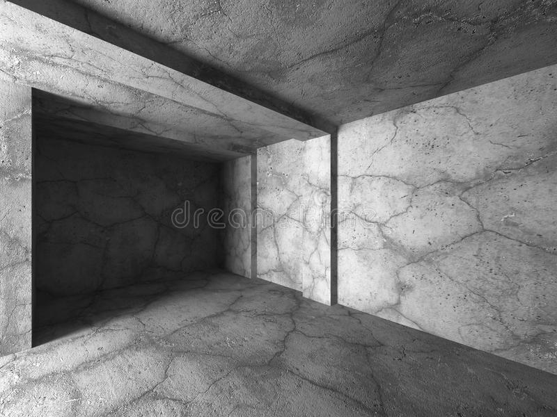 Download Tom Mörk Betongväggruminre Modern Arkitekturbac Stock Illustrationer - Illustration av design, textur: 78729218