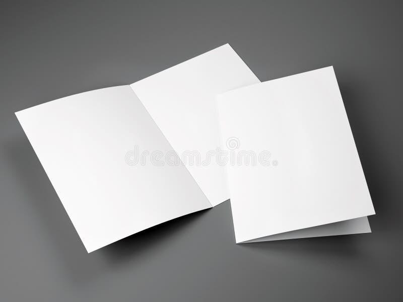Tom mall av det vikta formatet för broschyr A4 royaltyfri illustrationer