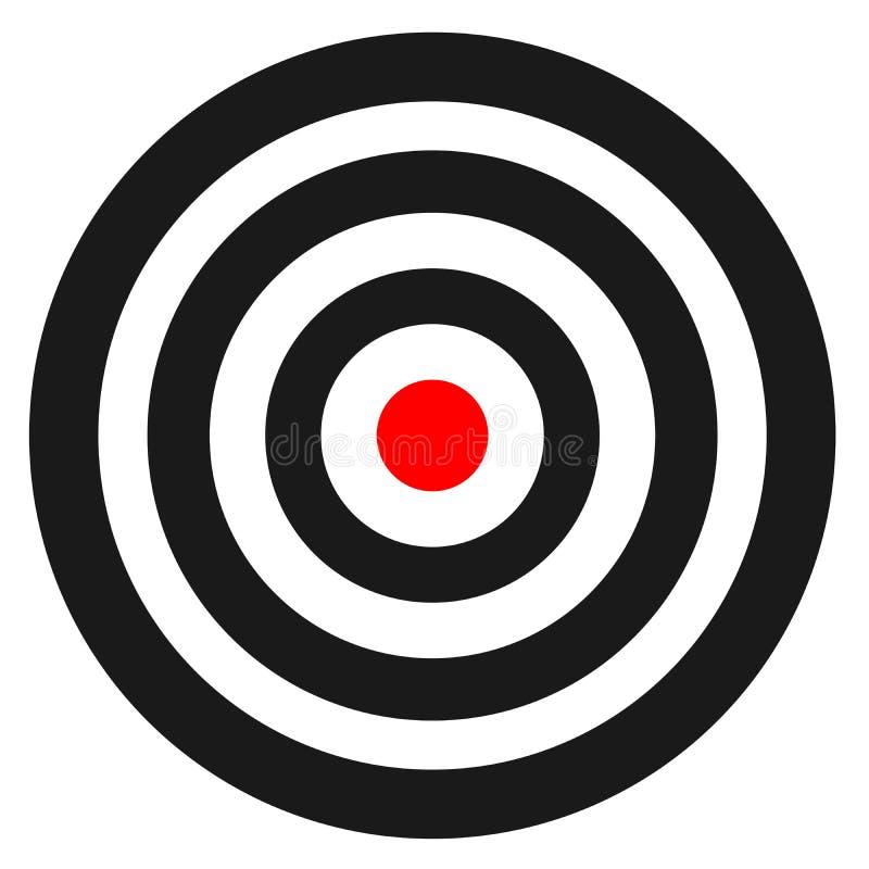 Tom mall för konkurrens för skytte för sportmålvektor Rent mål med nummer för uppsättningskjutbana eller pistolskytte vektor illustrationer