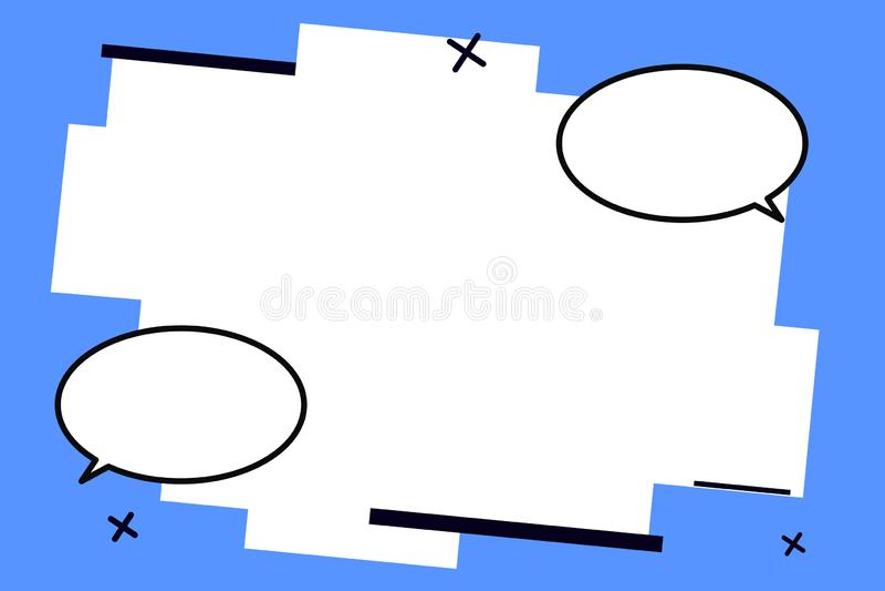 Tom mall för plan illustration för designaffärsvektor för orienteringen för mellanrum för kupong två för affisch för befordran fö royaltyfri illustrationer