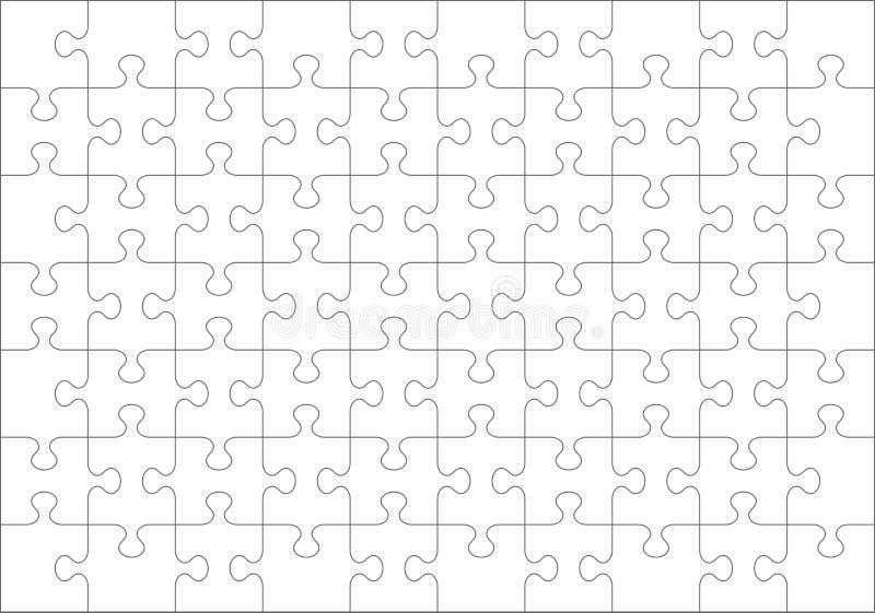 Tom mall för pussel av 70 stycken royaltyfri illustrationer