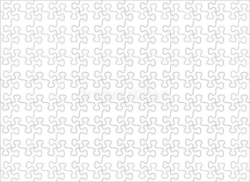 Tom mall för pussel med whimsically formade stycken som är horisontal, förhållande 11 till 8 royaltyfri illustrationer
