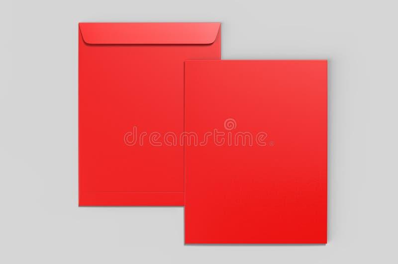 Tom modell för kuvert C4, tom mall illustrationen 3d framför royaltyfria foton