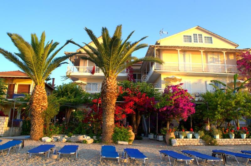 Tom morgonstrand, Grekland royaltyfri foto