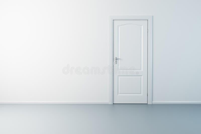 tom ny lokal för dörr royaltyfri illustrationer