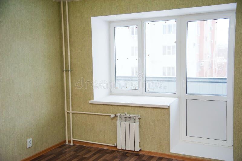 tom ny lokal för lägenhet arkivfoto