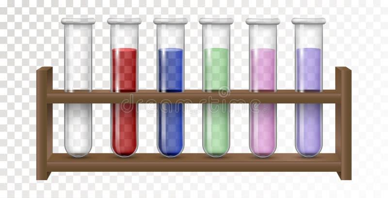 Tom och fylld flaska för kemisk labb royaltyfri illustrationer