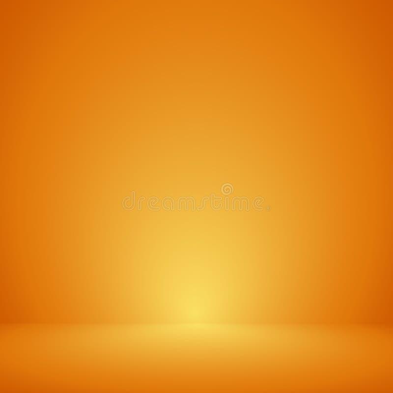 , Tom orange bakgrund för färgstudiorum, mallåtlöje upp för skärm eller montage av produkten, affärsbakgrund royaltyfri illustrationer