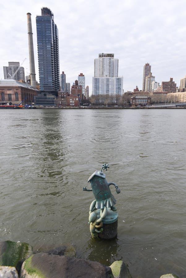 Tom Otterness rzeźby, Roosevelt wyspa, Nowy Jork fotografia royalty free