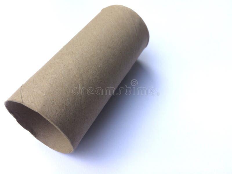 tom paper rulltoalett arkivbild