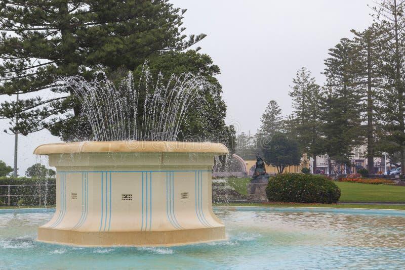Tom Parker Fountain, Napier, Nova Zelândia fotos de stock