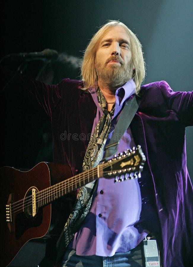 Tom Petty Wykonuje w koncercie obraz stock